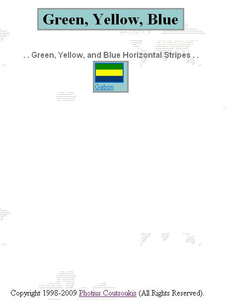 what flag is green yellow and blue stripes