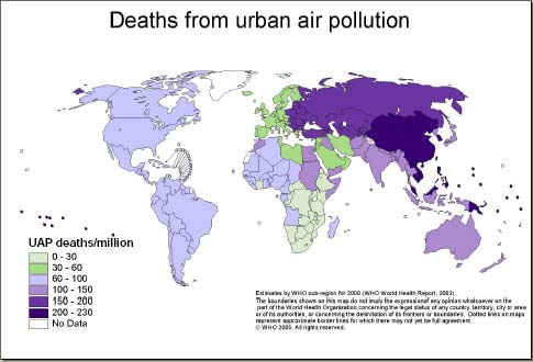 Urban Air Pollution Map